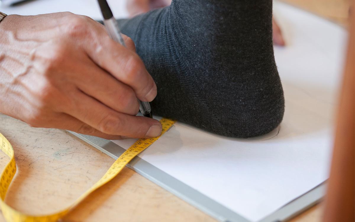ビスポークシューズ オーダーメイド靴 制作手順採寸