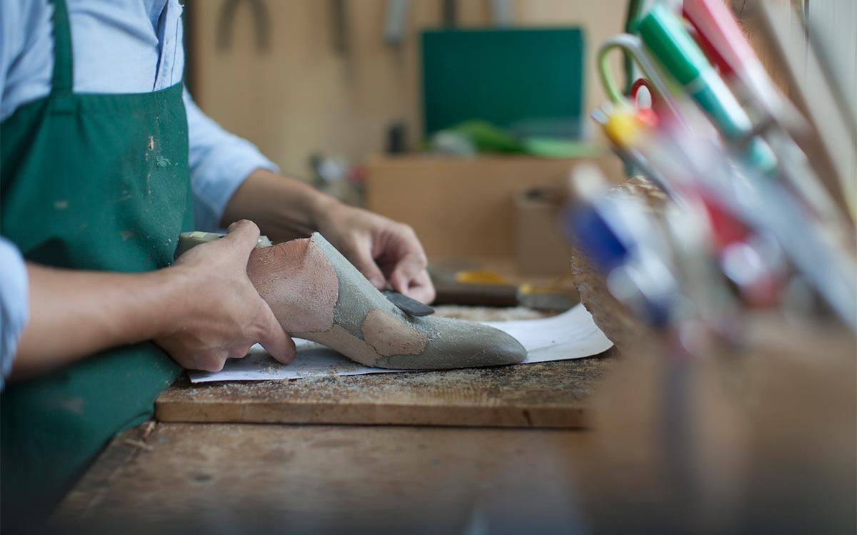 ビスポークシューズ オーダーメイド靴 制作手順木型作成