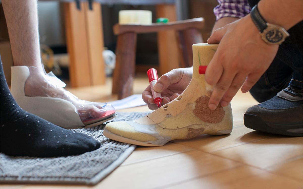 矯正靴の制作手順 仮合わせ