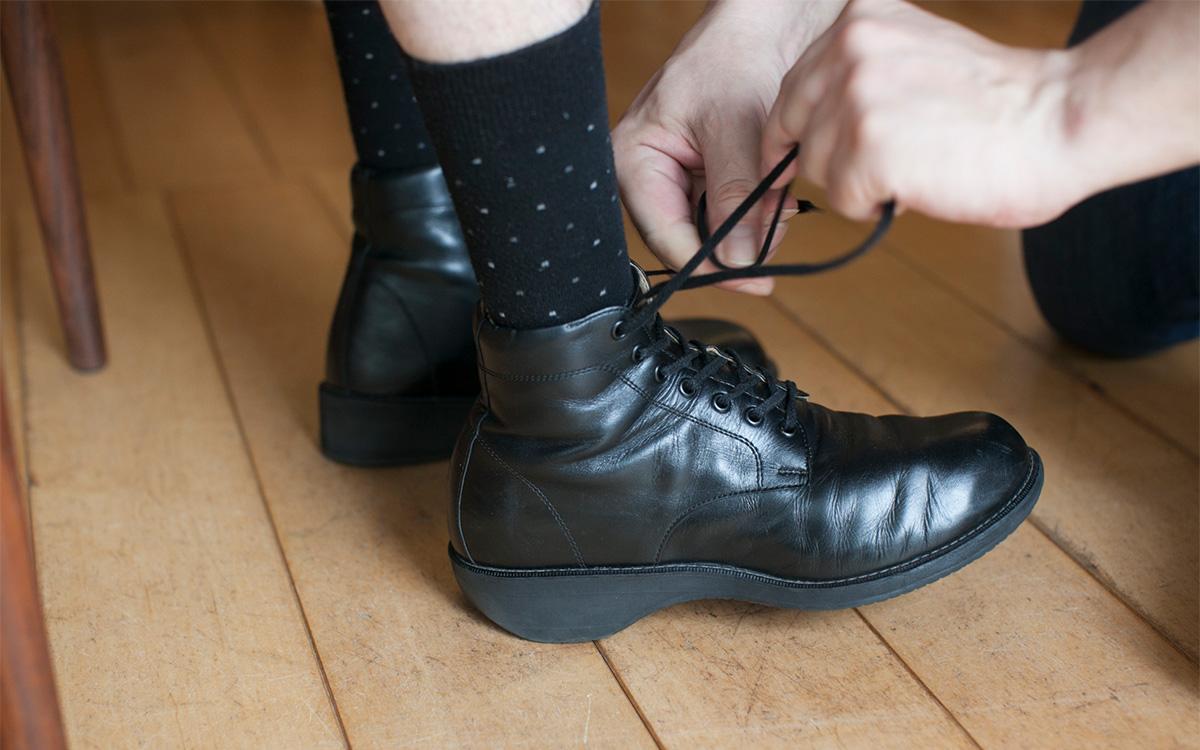 矯正靴の制作手順 フィッティング