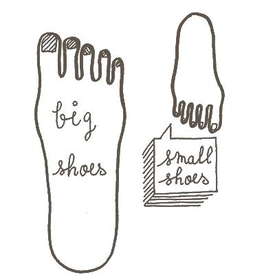 足のサイズが小さい・大きい